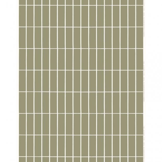 Látka Tiiliskivi 10m, bavlna / zelená