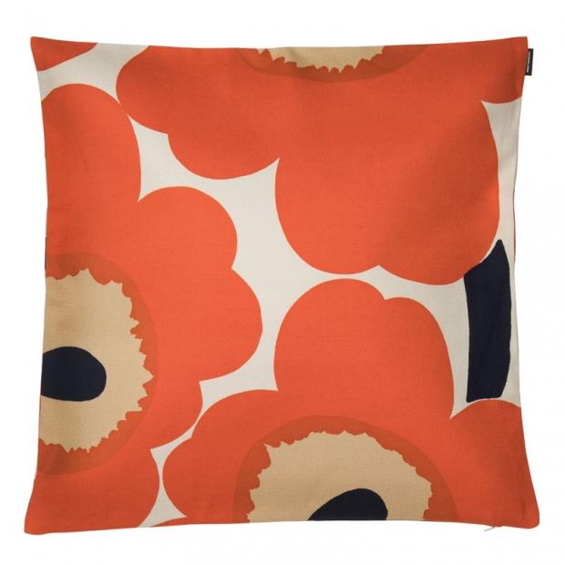 Povlak na polštář Unikko 50x50, oranžový