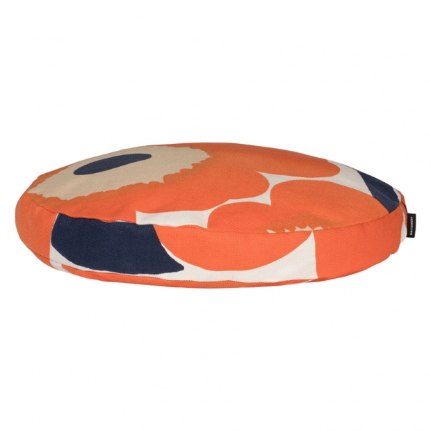Okrúhly vankúš Unikko 43cm, oranžový