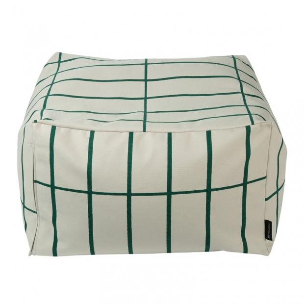 Polštář na sezení Tiiliskivi, béžovo-zelený