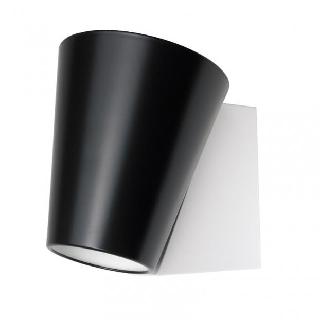 Nástenná lampa Liekki, čierna