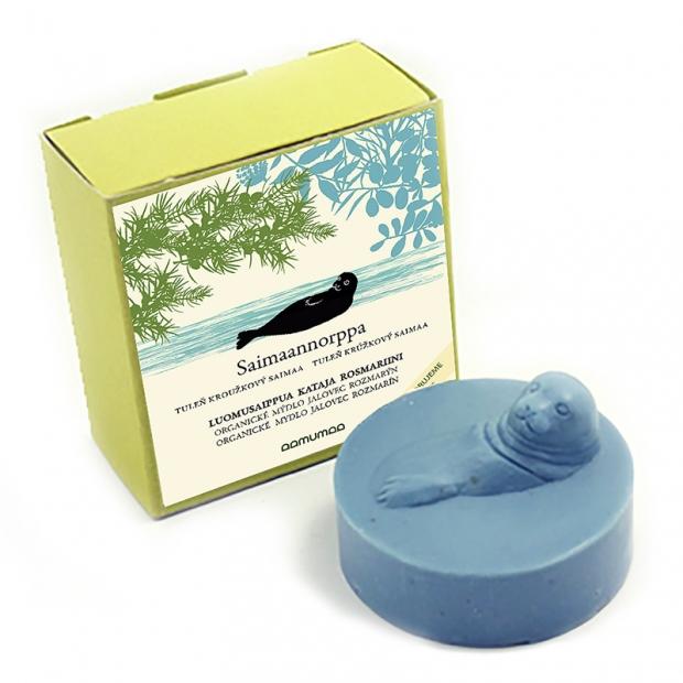 Prírodné mydlo s tuleňom 85g, jalovec rozmarín