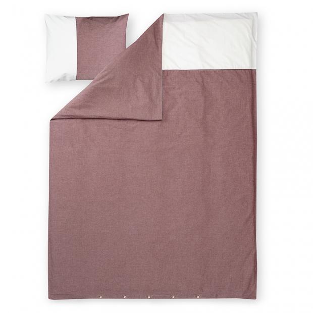 Obliečky Astrid 150x210, červeno-biele