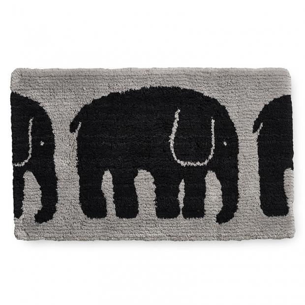 Koupelnová předložka Elefantti 50x80, šedo-černá