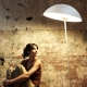 Stojací lampa Kajo, bílá