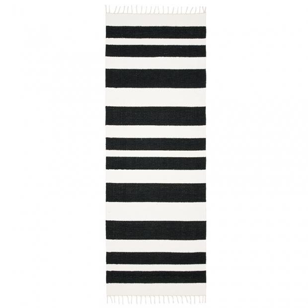 Koberec Hilla, čierno-biely