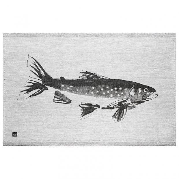 Utěrka Rautu 46x70, šedo-černá