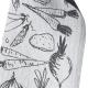 Utěrka Sadonkorjuu 46x70, černo-bílá