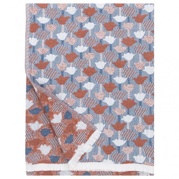 Deka / obrus Tulppaani 130x240, škoricovo-modrá