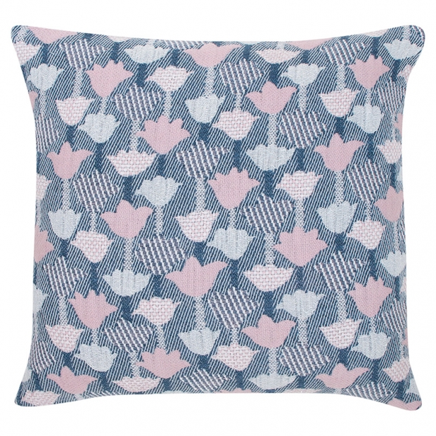Obliečka na vankúš Tulppaani 45x45, ružovo-modrá