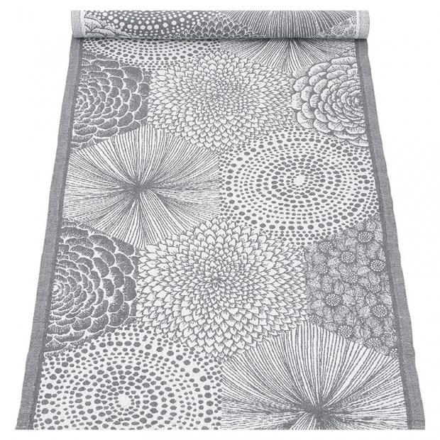 Behúň Ruut 48x150, sivo-biely