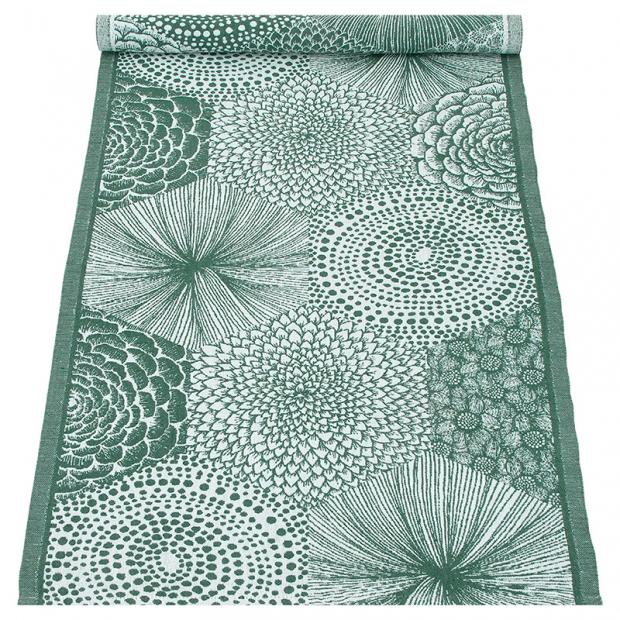 Behúň Ruut 48x150, zeleno-biely