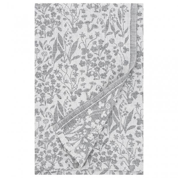Ľanový obrus Niitty 150x260, sivý