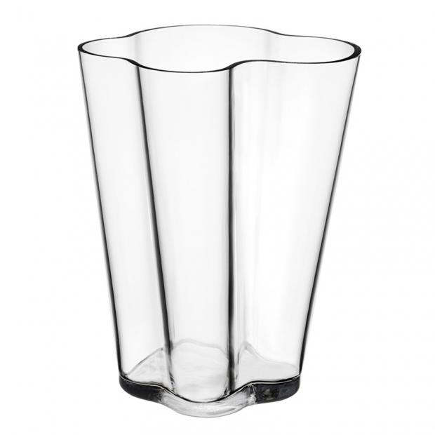 Váza Alvar Aalto 270mm, čirá