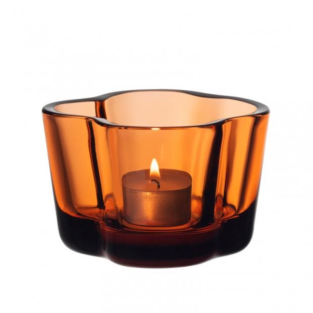Svícen Alvar Aalto, oranžový