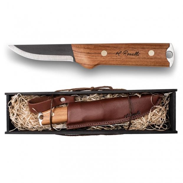 Fínsky nôž Roselli Wootz Big Heimo 23cm / dárkový set