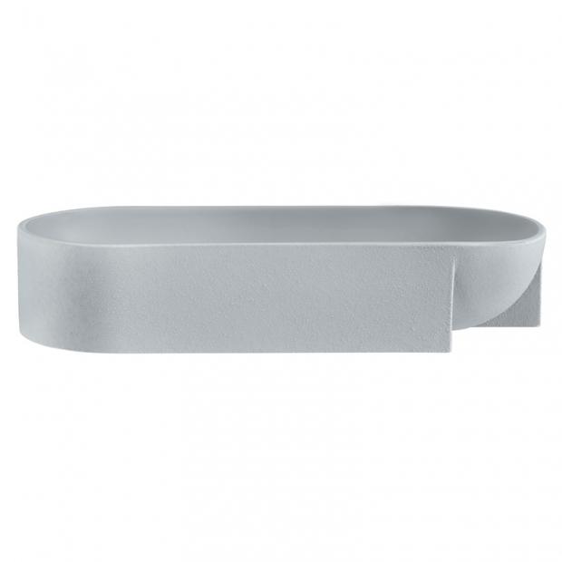 Mísa Kuru 370x75mm, světle šedá