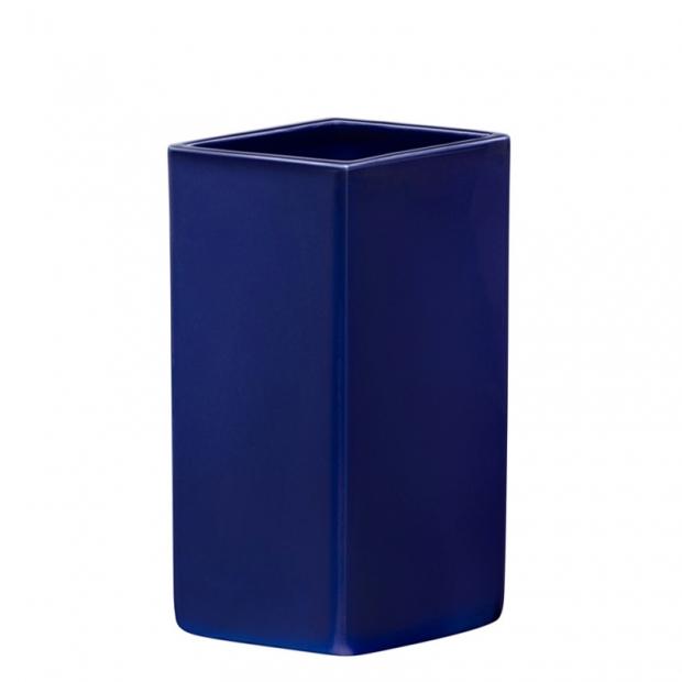 Váza Ruutu 180mm, keramická / tmavě modrá