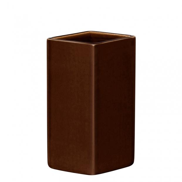 Váza Ruutu 180mm, keramická / hnedá