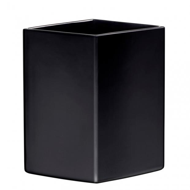 Váza Ruutu 225mm, keramická / čierna