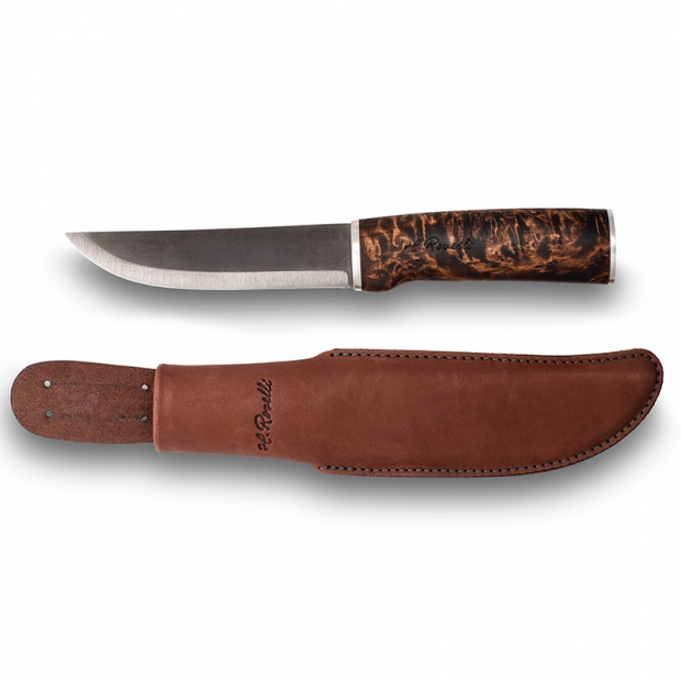 Fínsky nôž Roselli Wootz 26cm / striebro