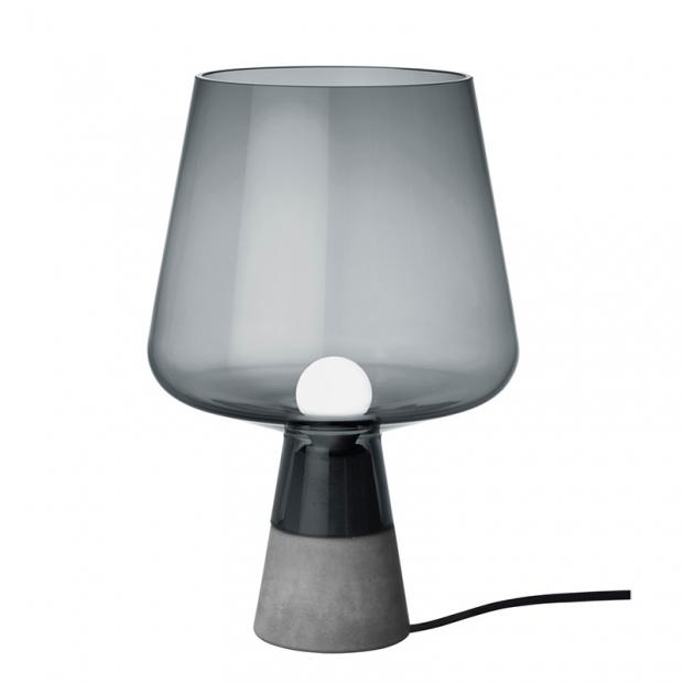 Stolní lampa Leimu 30x20cm, šedá