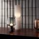 Stolná lampa Leimu 30x20cm, sivá