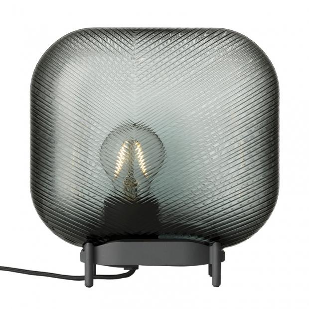 Stolná lampa Virva 25x25,5cm, sivá