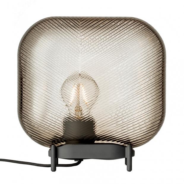 Stolní lampa Virva 25x25,5cm, lněná