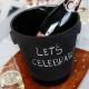 Chladicí nádoba na Champagne, černá