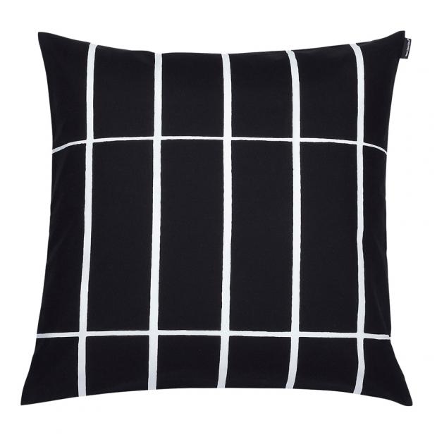 Obliečka na vankúš Tiiliskivi 50x50, čierno-biela