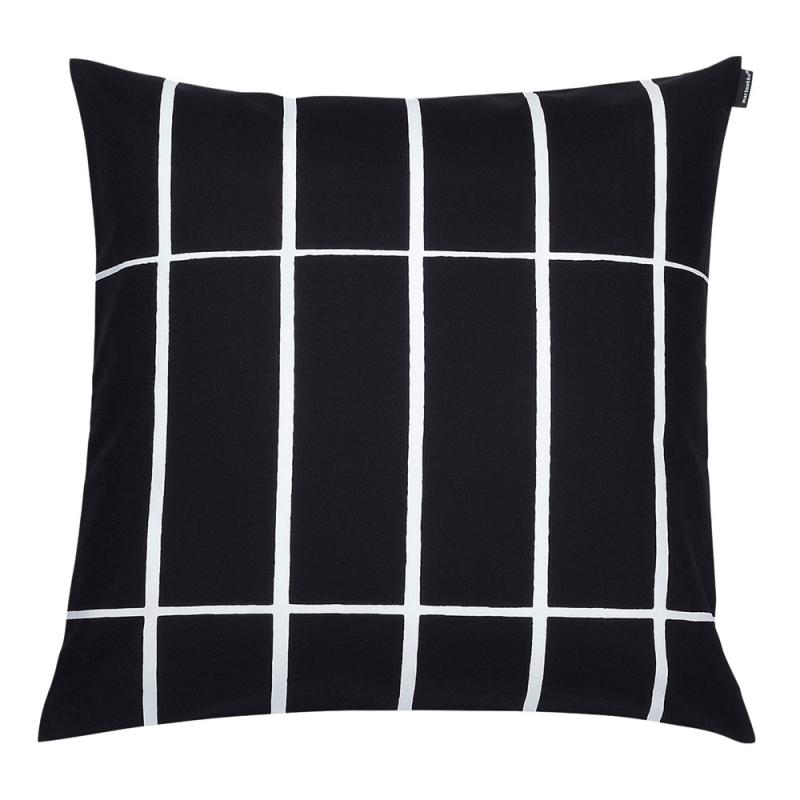 Povlak na polštář Tiiliskivi 50x50, černo-bílý