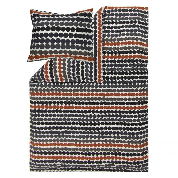 Obliečky Räsymatto 150x210, čierno-hnedé