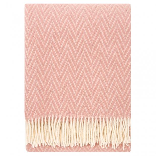 Vlněná deka Iida 130x200, růžová