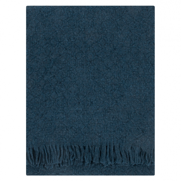 Vlnená deka Corona Uni 130x170, tmavo modrá