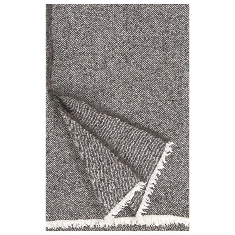 Vlněná deka Sara 140x180, tmavě hnědá