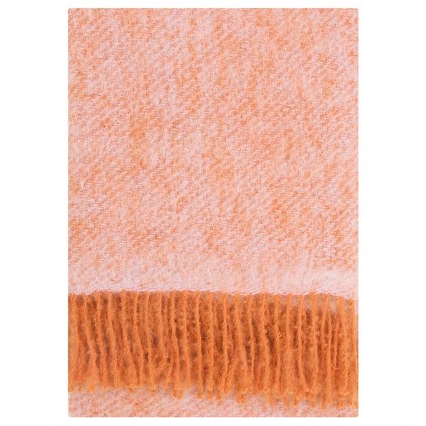 Mohérová deka Revontuli 130x170, růžovo-oranžová