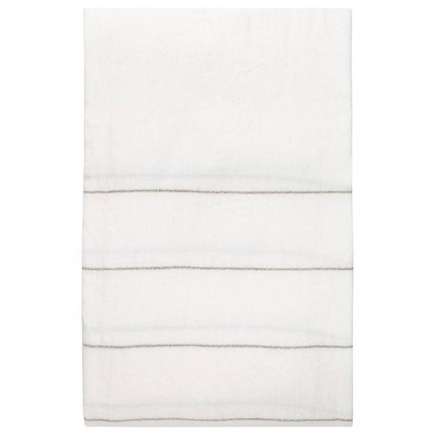 Ľanový obrus Kaste 150x260, bielo-ľanový