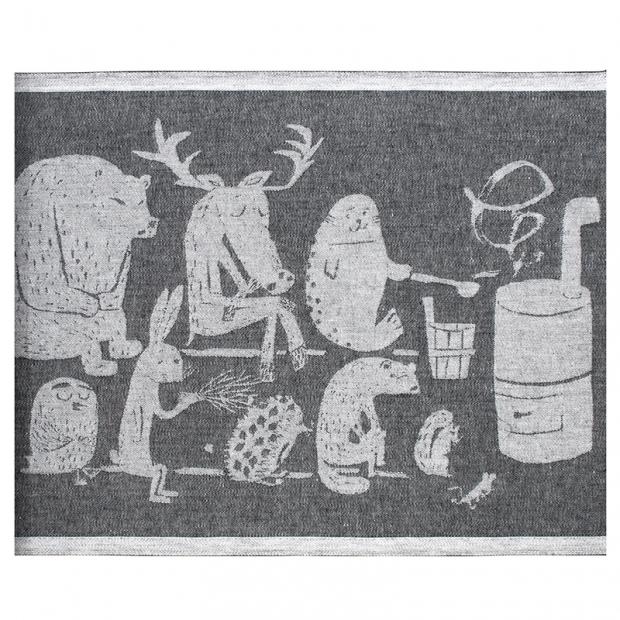 Podložka do sauny Eläinten 46x60, tmavo sivá