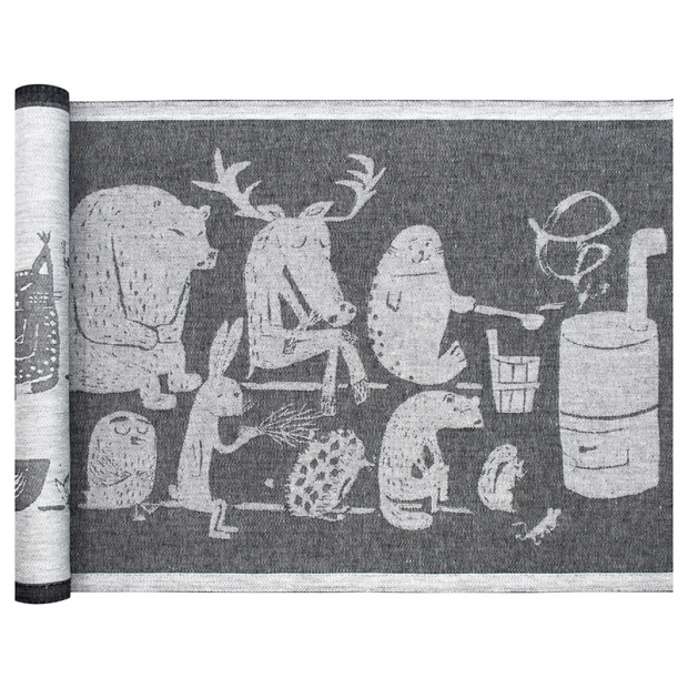 Podložka do sauny Eläinten 46x150, tmavě šedá