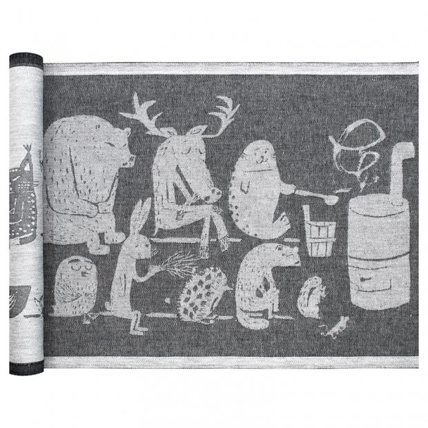 Podložka do sauny Eläinten 46x150, tmavo sivá