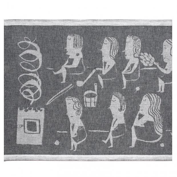 Podložka do sauny Naisten 46x60, tmavě šedá