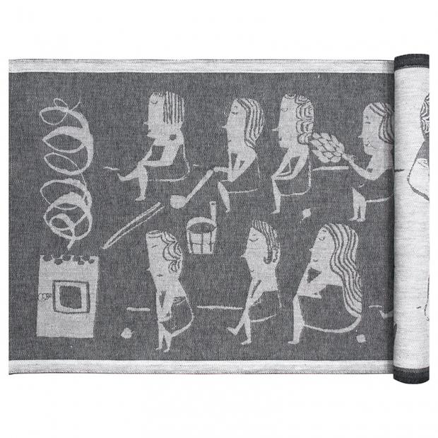 Podložka do sauny Naisten 46x150, tmavě šedá