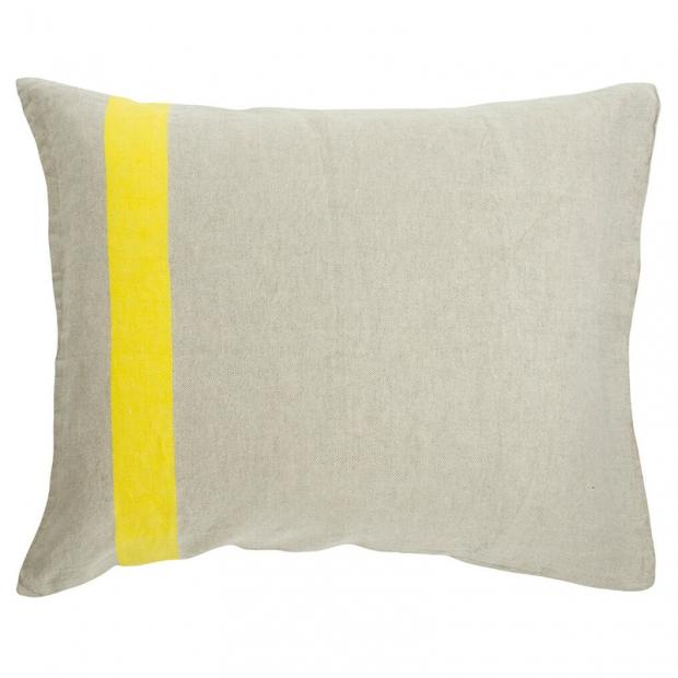 Ľanová obliečka na vankúš Usva 50x60, ľan-žltá