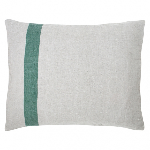 Ľanová obliečka na vankúš Usva 50x60, ľan-zelená