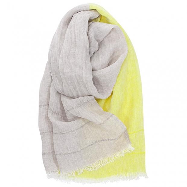Lněný šál Tsavo, len-žlutý