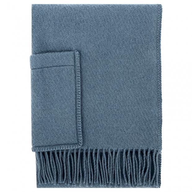 Šál Uni, s vreckami / modrý