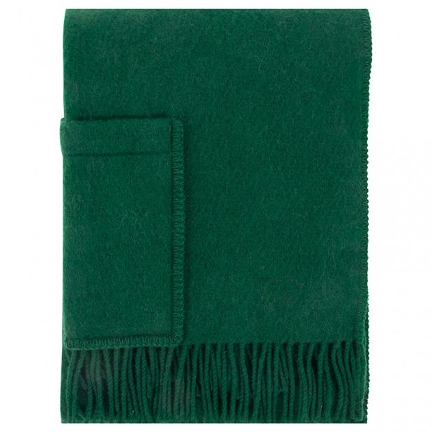 Šál Uni, s kapsami / zelený