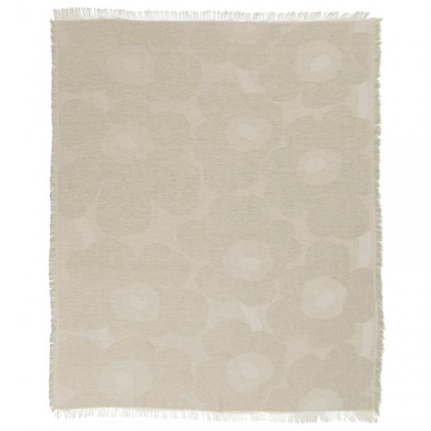 Ľanová deka Unikko 146x188, béžová