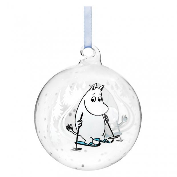 Vánoční ozdoba Moomin Ski trip 9cm
